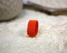 Anillo de naranja, semillas cuentas anillo, anillo de compromiso alternativo, joyería moldeada