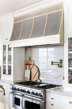 white grey and gold kitchen | ivory lane 1