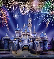 Resultado de imagen de castillo disney noche