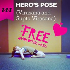 Need a #hero this week? Take a yoga break to save the day with our #freevideo of the week: Hero and Reclined Hero with Sara Crawford ( @saraswati6 ).   These featured poses are helping us get in touch with our #mulabandha this week but they're also great practices to help open our #hips and #align our legs as a counterbalance to all the sitting we do through the workweek. What's more Reclined Hero ( a.k.a. #SuptaVirasana ) is a wonderful pose to rest in after lunch as it's a terrific…