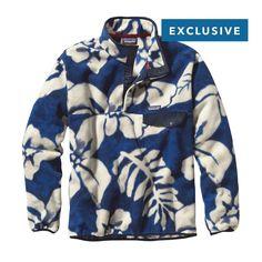 Patagonia Men\'s Lightweight Synchilla\u00AE Snap-T\u00AE Fleece Pullover - Spice Garden: Navy Blue SPNY