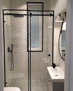 Bathroom Design Small, Bathroom Interior Design, Small Shower Room, Loft Bathroom, Toilet Design, White Home Decor, Bathroom Renovations, Bathroom Inspiration, House Design