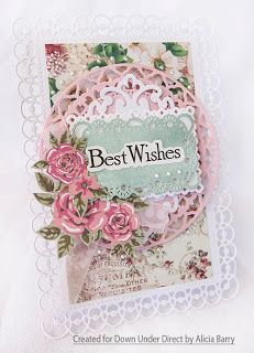 DownUnder Direct Inspirations: Floral Best Wishes Card
