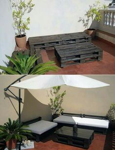 Patio Area Bar Chairs for Comfortable Outdoor and Poolside Seating – Outdoor Patio Decor Outdoor Spaces, Outdoor Living, Outdoor Decor, Terrazas Chill Out, Pallet Patio Furniture, Exterior Design, House Design, House Styles, Diy Pallet