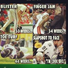 Yep, hockey players are some of the toughest athletes around!