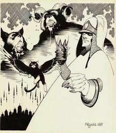 The Chronicles of Corum by Mike Mignola * Comic Book Artists, Comic Books Art, Comic Art, Character Concept, Character Design, 3d Character, Mike Mignola Art, Monochromatic Art, Dark Comics