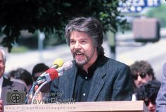 Bob Seger at the Hollywood Walk of Fame in 1987.