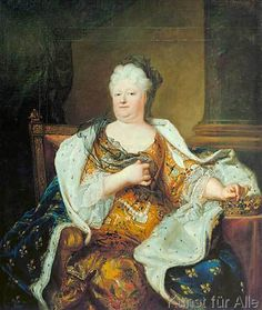 Elisabeth Charlotte (Liselotte) von der Pfalz, Duchess of Orléans with crown, ermine-bordered robe of state, and widow's veil. After Hyacinthe Rigaud Deutsches Historisches Museum (Gm another copy is in Versailles Louis Xiv, Ludwig Xiv, French Royalty, French History, Elisabeth, Museum, Women In History, Marie Antoinette, Anton