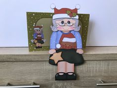 Excited to share this item from my shop: Gran/Granny Christmas card, robin red breast jumper, on the shelf christmas card and envelope Handmade Envelopes, Folded Up, All Design, Robin, Jumper, Minnie Mouse, Christmas Cards, Shelf, Breast