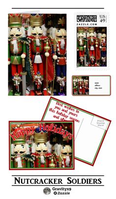 Christmas Nutcracker Soldiers Stationery for Holiday Greetings by #I_Love_Xmas at Zazzle! #Gravityx9 Designs ~