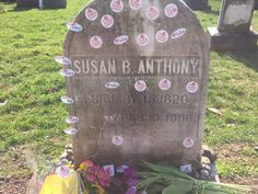 Why Women Bring Their 'I Voted' Stickers to Susan B. Anthony's Grave. It's a small tribute to a big leader in women's suffrage