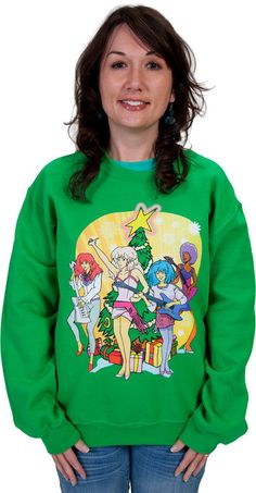 Jem and The Holograms Faux Christmas Sweater. Hey Mum! How fantastic would this be for Christmas?! Hint hint nudge nudge @Cindy Waldo