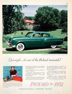 82 best 1950 39 s car ads images rolling carts vintage. Black Bedroom Furniture Sets. Home Design Ideas