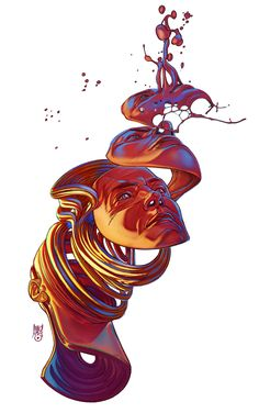 Liquid Mind Illustrations | Abduzeedo