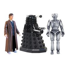 Doctor Who: Action Figure Doomsday Set Humanity is caught in the crossfire as the Cybermen and the Daleks wage war against each other... As the Genesis Ark opens, the Doctor has a major decision to make: Save the Earth or Rose Tyler? Create your own adventure with the ultimate Doomsday Set! The Doctor comes with Sonic Screwdriver. Brilliant detail makes this an essential set for all fans of Doctor Who!