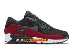 Nike Air Max 90 Essential - Chaussure Nike Sportswear Pas Cher Pour Homme Noir/Rouge université/Gris foncé 537384-062