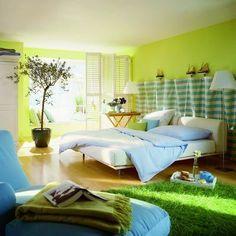 House Designs, Decoration, Ideas, Decorating, Decor, Furniture, Fashion, Art: 3 Lime Green Bedroom Beautiful Interior Design Ideas