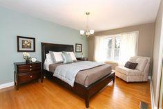 Master bedroom after remodeling and staging.