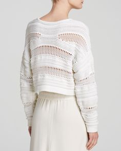 Helmut Lang Sweater - Open Knit Pullover | Bloomingdale's