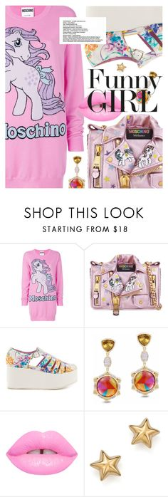 """Sweater Dresses: My Little Pony"" by cultofsharon ❤ liked on Polyvore featuring Moschino, Iron Fist, The Damned and Bloomingdale's"