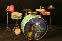 I'M ALL ABOUT THAT BASS....Cool Stuff they Used to Paint on Bass Drum Heads in the 20s and 30s