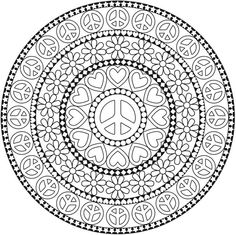peace coloring page site has all types of free coloring pages ... - Peace Sign Mandala Coloring Pages