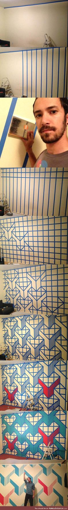Funny pictures about Clever Wall Design. Oh, and cool pics about Clever Wall Design. Also, Clever Wall Design photos. Photowall Ideas, Diy Wand, Ideias Diy, Home And Deco, Room Paint, Painting Tips, Painting Walls, Diy Room Decor, Wall Decor