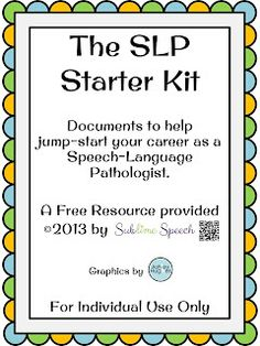 Sublime Speech: Preparing For Your CF Year - A Newbie SLP's Guide to Flying Solo in the schools Speech Language Therapy, Speech Language Pathology, Speech And Language, Speech Therapy Activities, Articulation Activities, Speech Room, Therapy Ideas, Play Therapy, Free