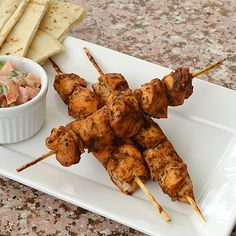 Shish Tawook - Chicken Skewers Recipe by Sawsan Abu Farha Shish Taouk Recipe, Shish Tawook, Shish Kebab, Lebanese Recipes, Indian Food Recipes, Ethnic Recipes, Shireen Anwar Recipes, Easy Cooking, Cooking Recipes