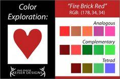 Eva Maria Keiser Designs: Explore Color: Fire Brick Red