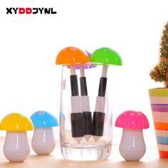 XYDDJYNL Hot! Creative Stretch Ballpoint Pen Mushroom Pen Kawaii Stationery Kids Fine Gifts Caneta Escolar Office Supplies Zakka #Affiliate