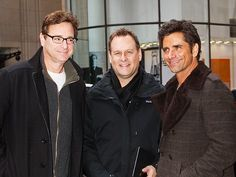 """Bob Saget reunited with his """"Full House"""" cast mates in spexy style! Gotta love his sleek black rectangular specs!"""