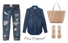 """Canadian Tuxedo"" by ownoriginal ❤ liked on Polyvore featuring Yves Saint Laurent, Abercrombie & Fitch, Sophia Webster and Neiman Marcus"