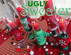 Make your ugly Christmas sweater party a huge hit with our ultimate guide of ugly Christmas sweater party ideas. Decorations, Invitations, Awards, Games and More!