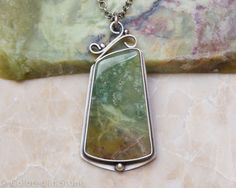 Rosella Opalite Necklace, Sterling Silver, Oxidized by ColoredInStone on Etsy https://www.etsy.com/listing/219891666/rosella-opalite-necklace-sterling-silver