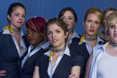 Stacie (Alexis Knapp), Cynthia-Rose (Esther Dean), Aubrey (Anna Camp), Beca (Anna Kendrick), Fat Amy (Rebel Wilson)  ~ Pitch Perfect (2012) ~ Movie Still #amusementphile