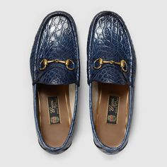 Gucci Shoes Men Runway 1953 Horsebit Crocodile Maritime Loafers Crocodile - Gucci Horsebit Loafer - Ideas of Gucci Horsebit Loafer - Gucci Shoes Men Runway 1953 Horsebit Crocodile Maritime Loafers Crocodile Mens Moccasins Loafers, Leather Loafers, Men's Loafers, Loafer Shoes, Gucci Horsebit Loafers, Gucci Boots, Gucci Brand, T Strap Heels, Ankle Straps