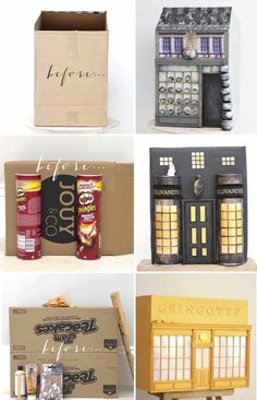 DIY Harry Potter Diagon Alley project from Kate's Creative S. - DIY Harry Potter Diagon Alley project from Kate's Creative Space Dobby Harry Potter, Harry Potter Tumblr, Harry Potter Kawaii, Harry Potter Thema, Cumpleaños Harry Potter, Harry Potter Diagon Alley, Harry Potter Birthday, Harry Potter Crafts Diy, Harry Harry
