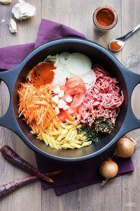 Blog Webdistrib : Recette de ONE POT PASTA Boeuf, paprika & carotte