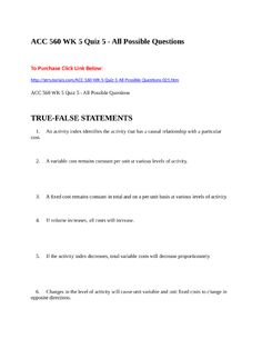 Acc  Wk  Quiz   All Possible Questions To Purchase Click