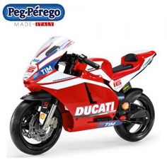 Ducati GP Super Bike Kids Ride On Perfect for kids aged 3 and up, the Peg Perego Ducati GP Kids Bike combines an authentic Ducati design with peg Perego's legendary focus on quality Kids Electric Bike, Electric Motor, Moto Ducati, Ducati Superbike, Kids Ride On, Kids Bike, Peg Perego, Drum Brake, Dios