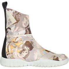 Maison Margiela Women Josephine Trek Tabi Ankle Boots