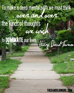 the power of thoughts -- thoreau quote
