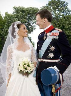 HRH Prince Joachim of Denmark and Miss Marie Cavallier on their wedding day.