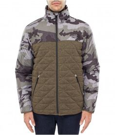 The North Face Men's Fern Canyon Jacket New Taupe Green Heather-New Taupe Green Camo