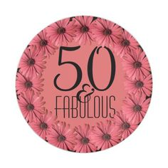 50 \u0026 Fabulous | Pink Floral Daisies 50th Birthday Paper Plate  sc 1 st  Pinterest & Red Canoes 100th Birthday Party Personalized Plate Our original ...