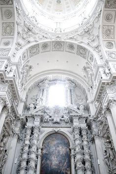 Theatine Church Munich Germany by Agostino Barelli | Architecture | Interior | Church | White