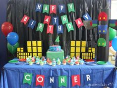 Conner's PJ Masks 4th Birthday | CatchMyParty.com
