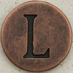 Copper Uppercase Letter L
