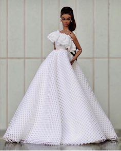 World Of Fashion 💃💃🏻💃🏼 ( Barbie Gowns, Barbie Dress, Barbie Clothes, Fashion Royalty Dolls, Fashion Dolls, Fashion Outfits, Black Baby Dolls, Barbie Wedding, Bride Dolls